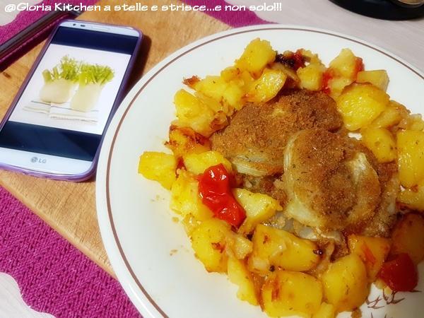 Finocchi Gratinati con Patate al Pomodoro Saporito di Gloria KitchenUSA2