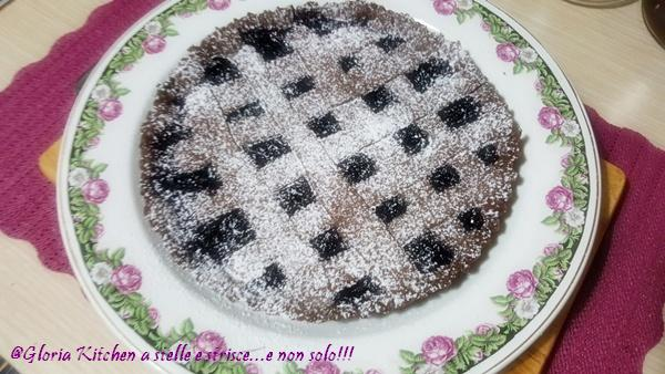 Crostata al Cioccolato con Ciliegie di Gloria KitchenUSA
