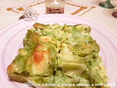 Lasagne con Pesto e Gorgonzola di Gloria KitchenUSA