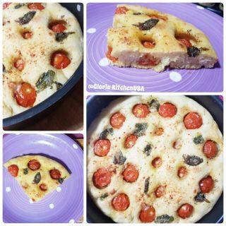 Focaccia Alta e Morbida con Pomodori