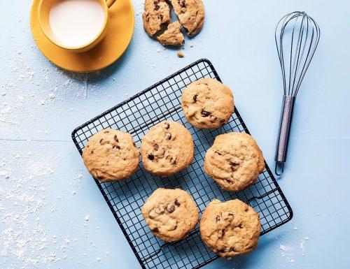Cookies Burro di Arachidi e Gocce di Cioccolato Senza Glutine Vegani
