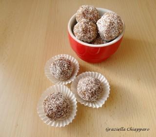 palline cocco ricotta cioccolato
