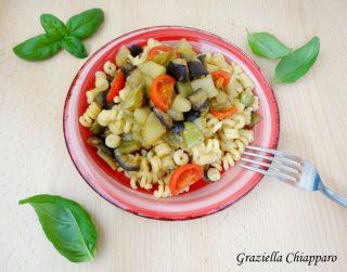 pasta con ratatuille di verdure