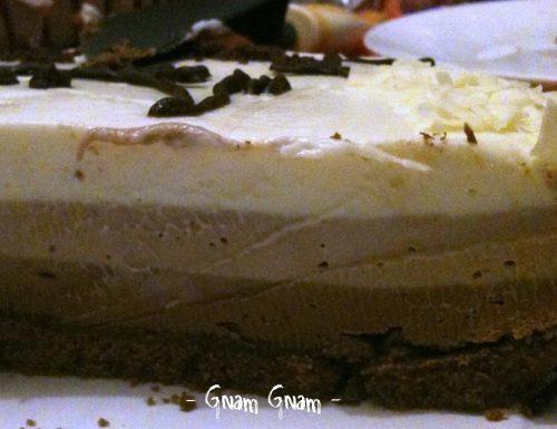 Cheesecake al triplo cioccolato | Ricetta senza forno