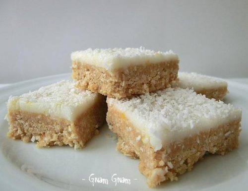 Lemon coconut slice | Ricetta Australiana