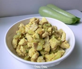 tacchino curry zucchine