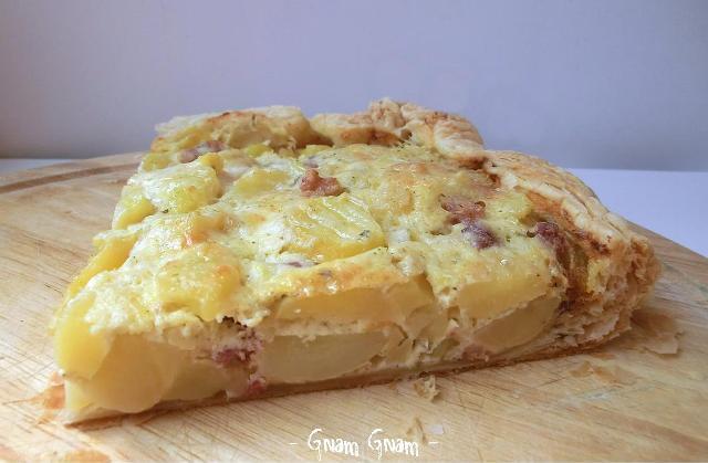 Torta Rustica Con Patate Lesse Pancetta E Panna Ricetta Riciclo