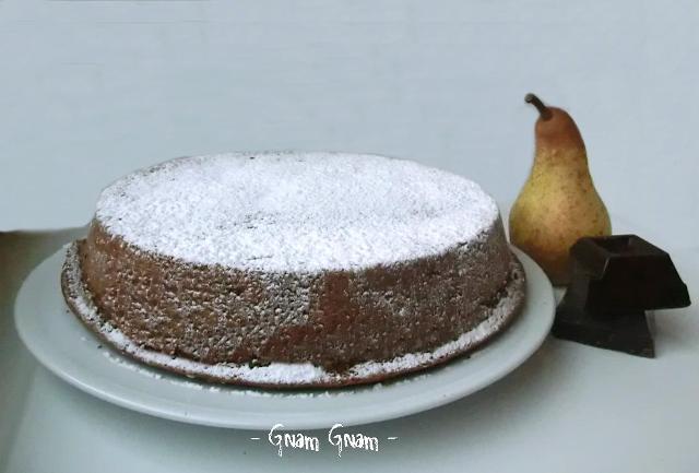 torta morbida  cioccolato e pere
