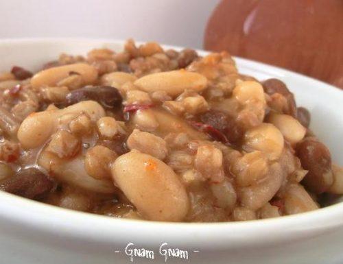Zuppa di farro, fagioli e nduja | Ricetta