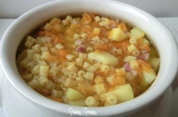 minestra zucca patate