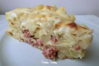 pasta al forno con salsiccia e patate 2