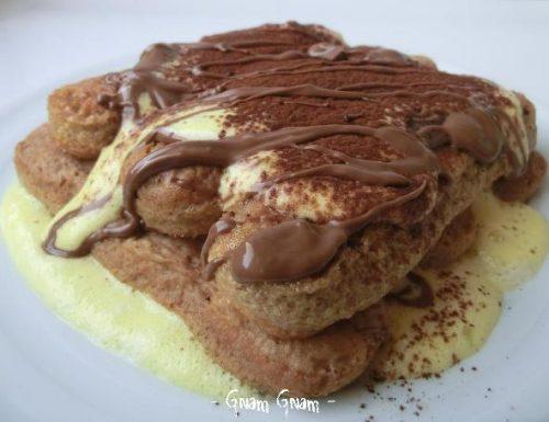 Finto tiramisù con zabaione e cioccolato | Ricetta