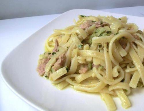 Scialatielli al limone con tonno e zucchine | Ricetta