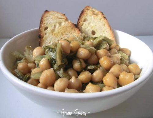 Zuppa con ceci e lattuga | Ricetta