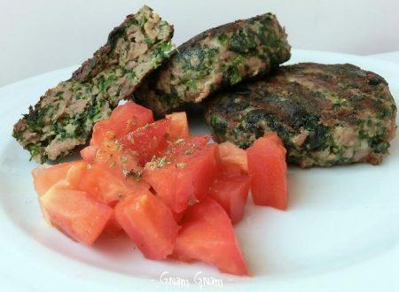 Hamburger di carne e spinaci   Ricetta