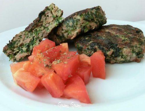 Hamburger di carne e spinaci | Ricetta