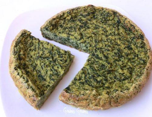 Torta di polenta e spinaci | Ricetta