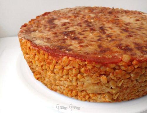 Timballo di grano al forno con pomodoro e mozzarella | Ricetta