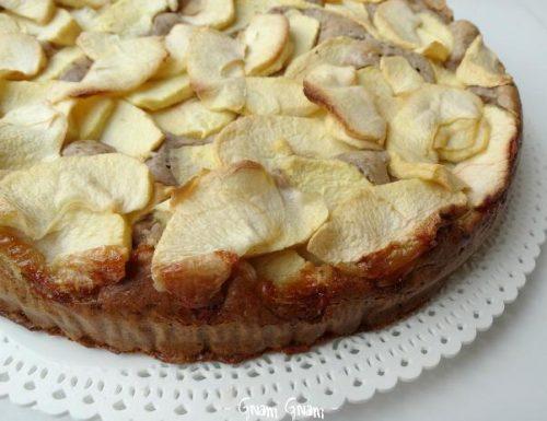 Torta di mele leggera   Ricetta senza zucchero, uova e burro