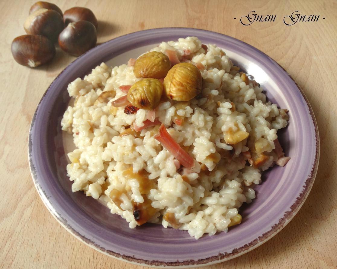 Risotto castagne e speck ricetta for Ricette castagne