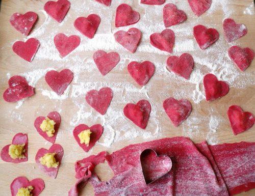 Cuori di pasta fresca ripiena   Ricetta
