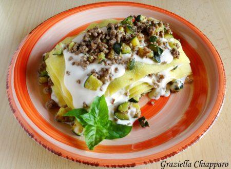 Lasagne con zucchine e carne tritata   Ricetta