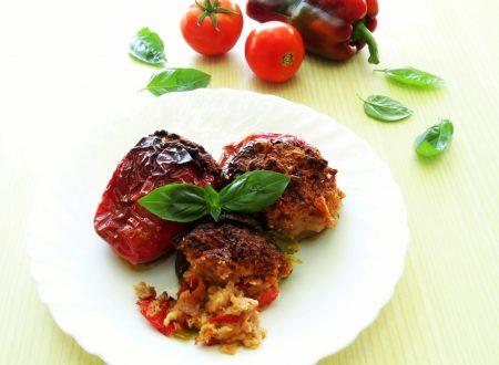 Peperoni ripieni con carne e olive   Ricetta