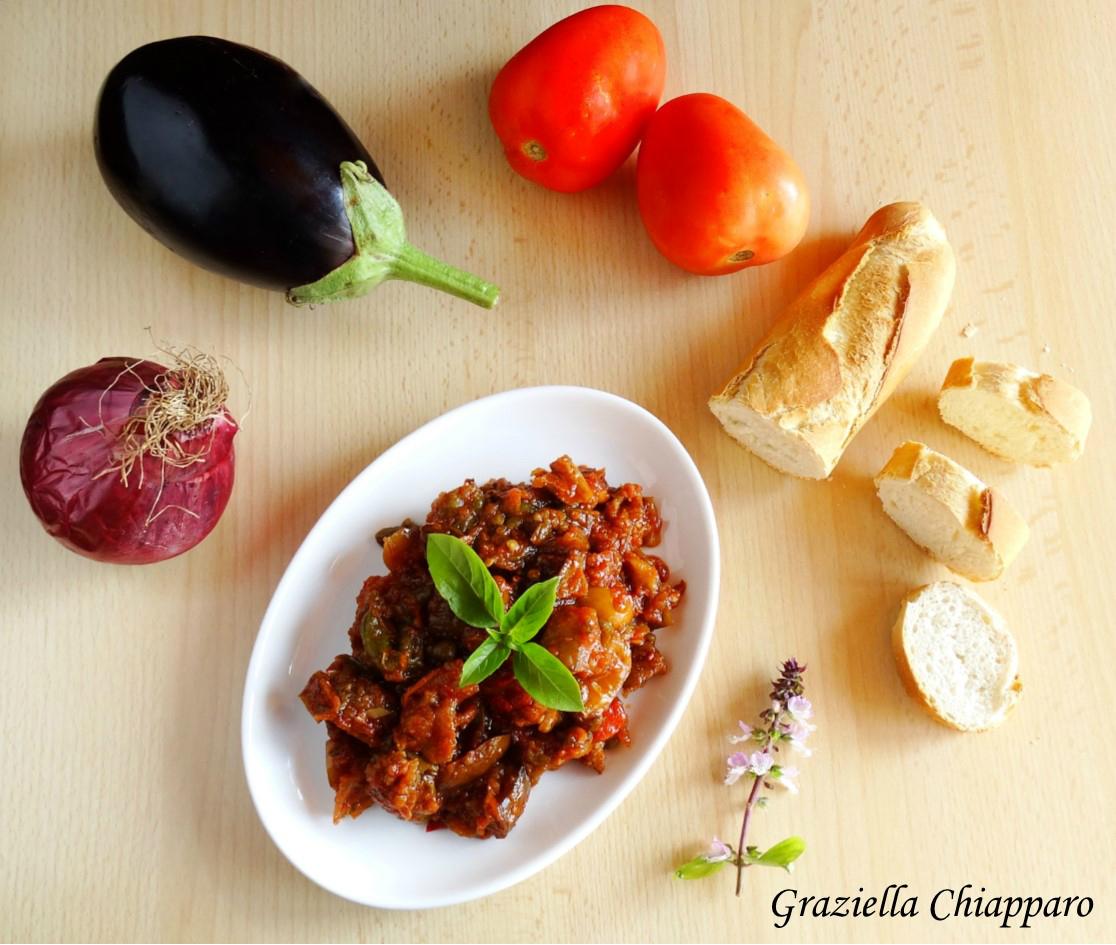 Caponata di melanzane e peperoni | Ricetta