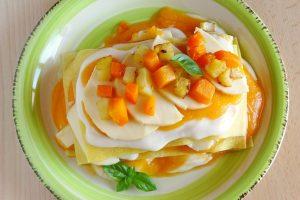 Lasagne zucca, patate e scamorza | Ricetta