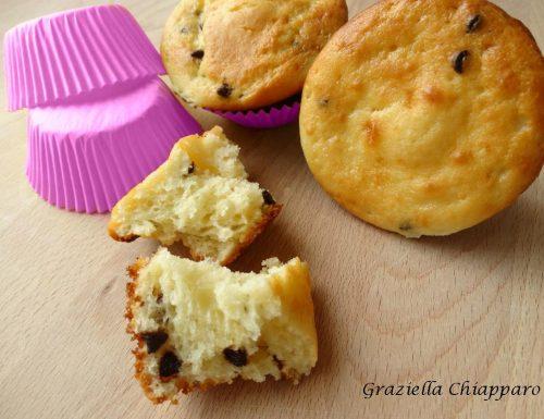 Muffin morbidi ricotta e cioccolato | Ricetta