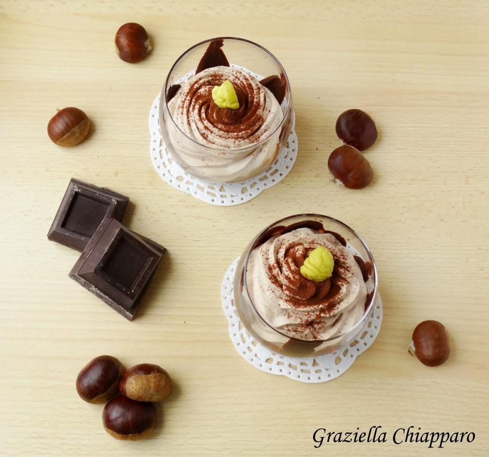 Mousse castagne cioccolato e panna | Ricetta