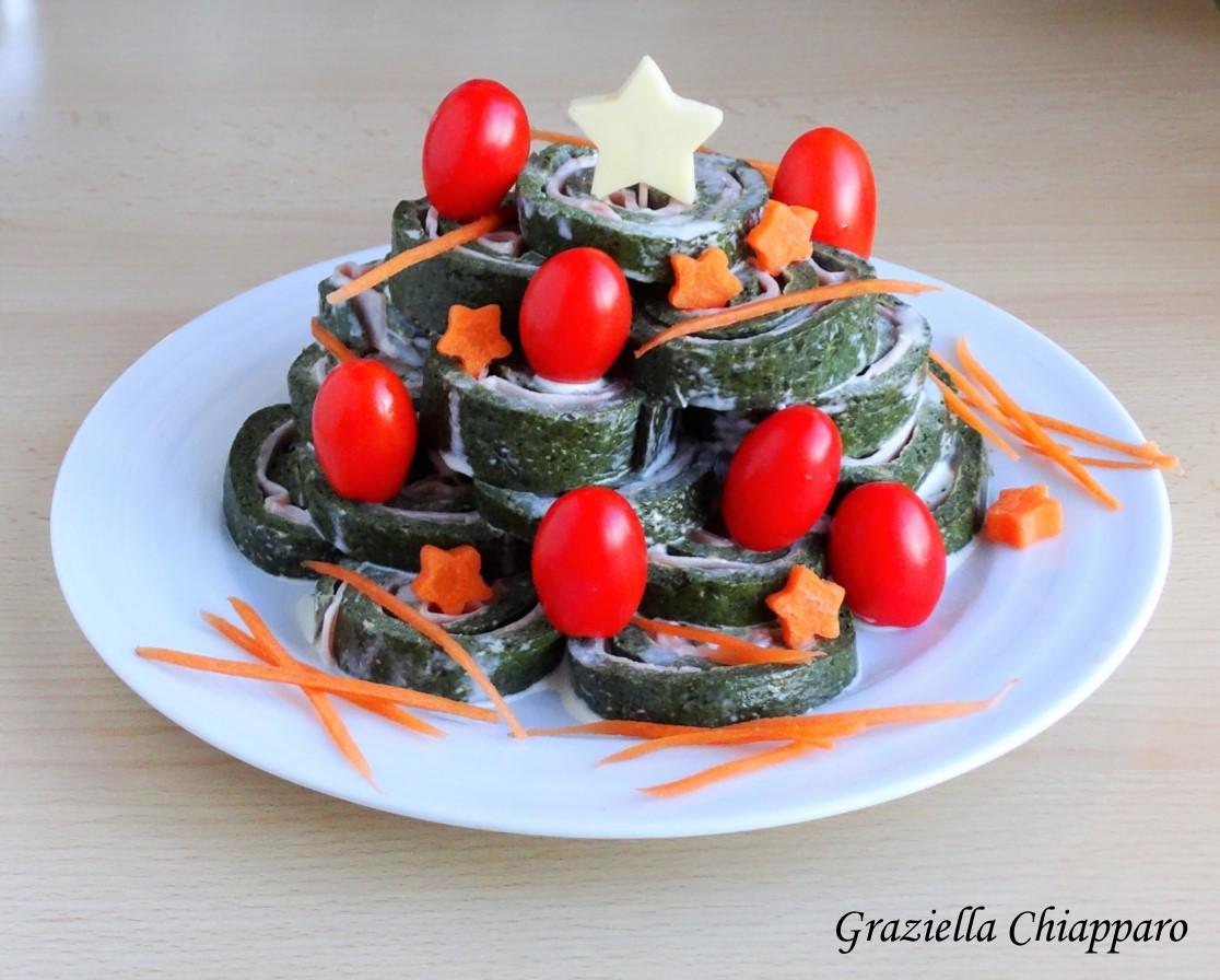 Girelle di frittata con verdura al forno | Idee per pranzo di Natale
