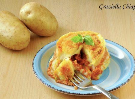 Tortino con patate e ragù | Ricetta