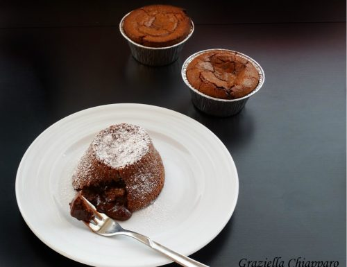 Tortino con cuore morbido al cioccolato | Ricetta facile