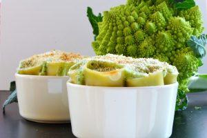 Paccheri al forno con broccolo romano e besciamella