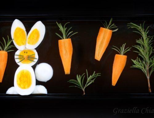 Coniglietto di uova sode | Ricetta per bambini