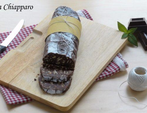 Salame di cioccolato senza uova | Ricetta facilissima