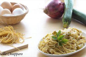 Tagliolini integrali fatti in casa con zucchine   Ricetta leggera