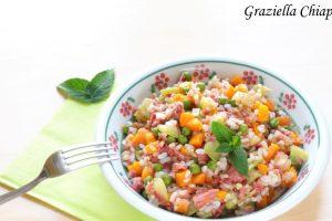 Mix di cereali con verdure e carne in scatola   Ricetta