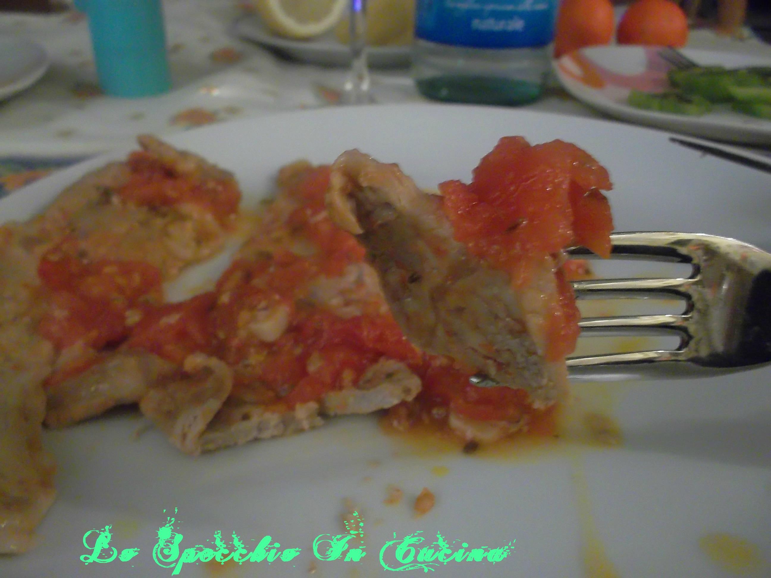 Lo Specchio In Cucina fettine alla pizzaiola , ricetta secondo di carne, lo