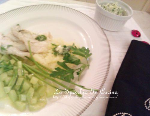 Filetto di cernia con burro alle erbe,ricette secondi con pesce