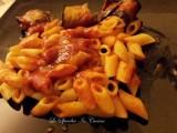 Mezze penne con involtini di melanzane, ricetta primi piatti, ricetta piatto unico, ricetta con verdure , ricetta dal blog Lo Specchio In Cucina