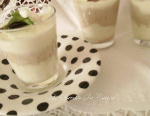 Bicchierini con tripla crema , ricetta dolci al cucchiaio