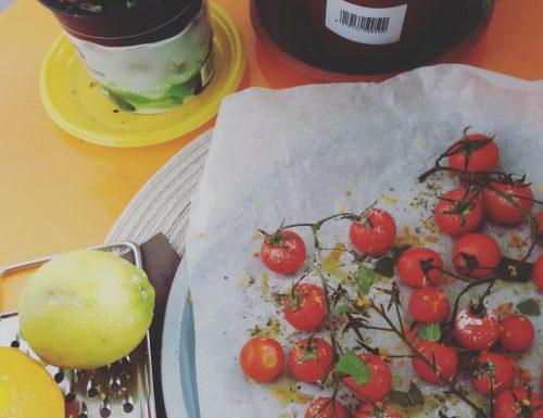Pomodorini confit , ricetta contorni , ricetta di Sonia Peronaci