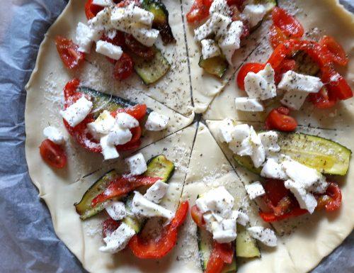 Corona di sfoglia alle verdure , ricette salate