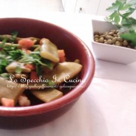 Taccole al pomodoro (piselli mangiatutto),ricette contorni
