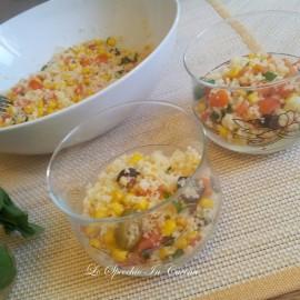 Cous Cous con basilico pomodori e mozzarella , ricetta primi piatti