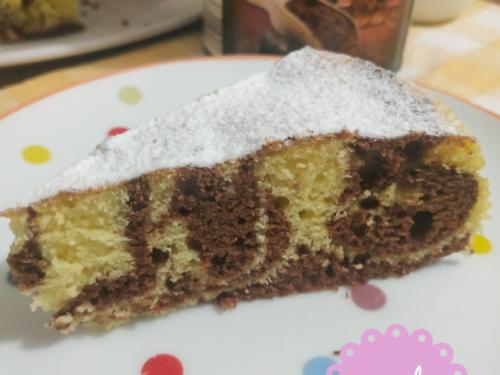 Torta al kefir marmorizzata