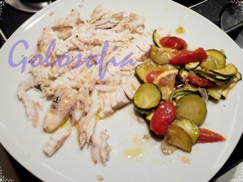 Orata al forno con verdure, ricetta semplice