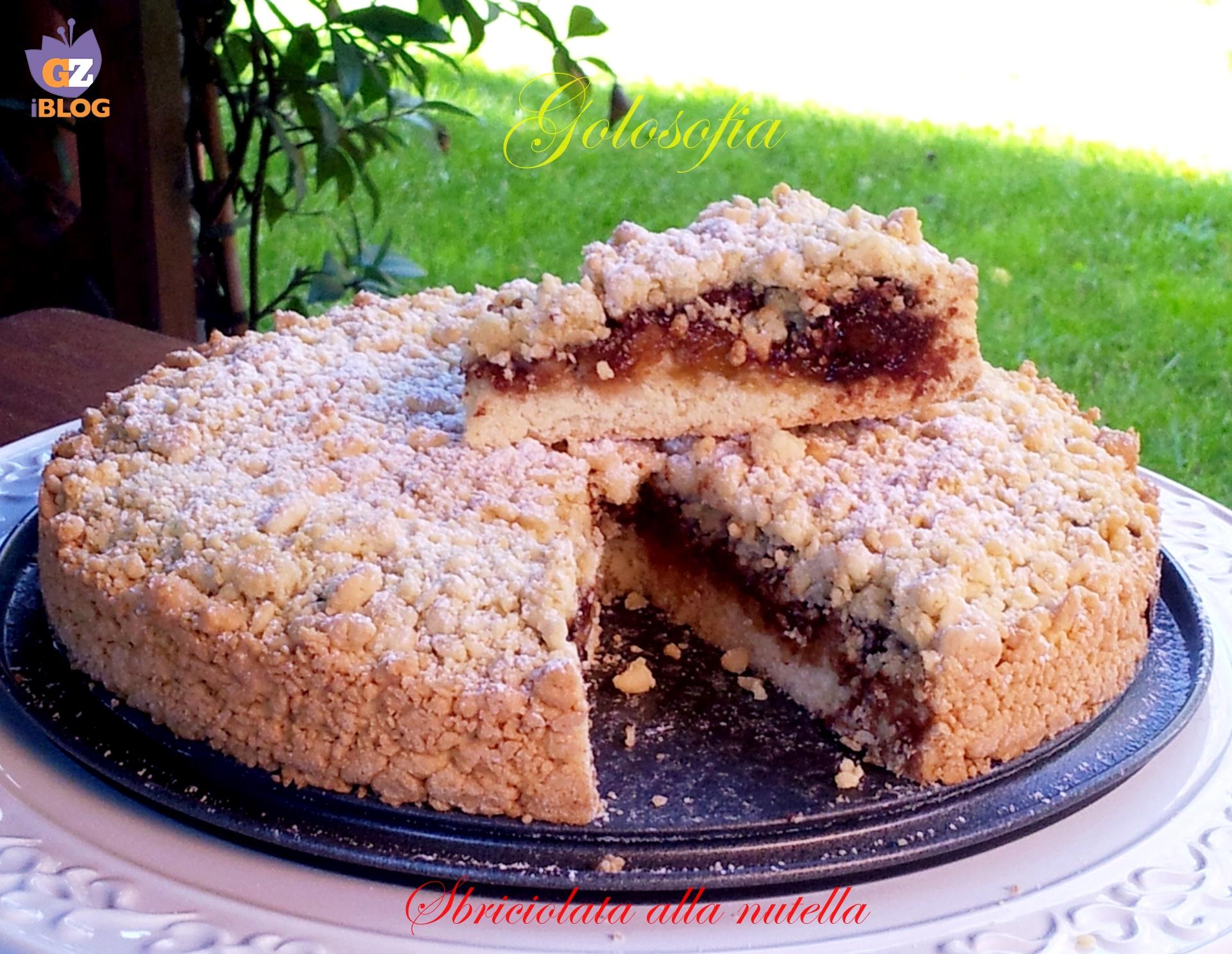 Sbriciolata alla nutella-ricetta torte-golosofia